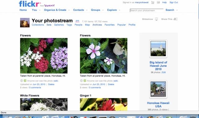 The Old Flickr display